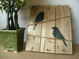 birds on a wire bird wall decor rustic reclaimed pallet wood