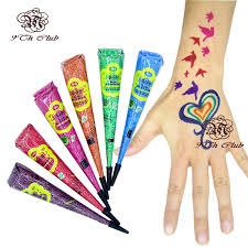 3pcs golecha colored henna tattoo paste cones indian mehndi tatoo