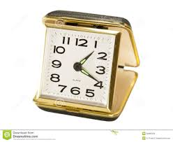 travel alarm clocks images Vintage black key wound folding travel alarm clock stock photo jpg