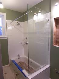 tub with glass shower door spray panel shower door king shower door installations