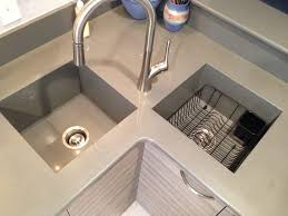 Square Kitchen Sinks Kitchen Sinks One Kitchen Sink And Countertop Grey Square