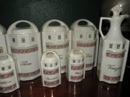 antique german floral porcelain canister set kitchen 14pcs