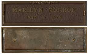 Grave Marker Flags Marilyn Monroe Grave Marker At Natedsanders Com Auction 50 000