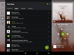 concept what spotify would look like tablet nexus 9