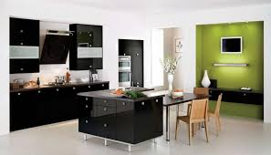 Black And White Contemporary Kitchen - kitchen room comely black kitchen decor with small modern