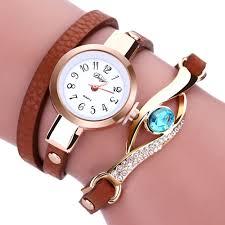 leather wrap bracelet watches images Fashion quartz watch bracelet startworldshop jpg