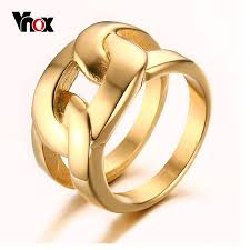 aliexpress buy vnox 2016 new wedding rings for women aliexpress buy vnox gold color rings for men trendy x cross