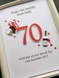70th birthday card for men dad husband grandad personalised