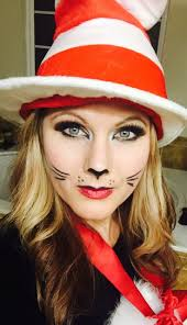 easy cat halloween makeup cat in the hat easy to do halloween pinterest cat