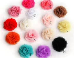 flowers for headbands chiffon flower etsy
