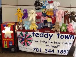 build your own teddy violet the clown and teddy town boston s build your own