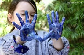 Make Purple Paint Painting On Tinfoil U2013 Juggling With Kids