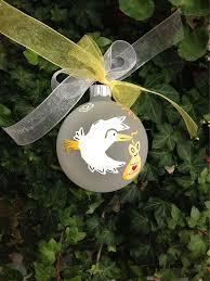 new baby stork ornament gender reveal ornament