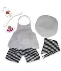 clothes for build a teddy bears clothes fits build a teddies chef cooks