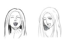 how to draw a laughing face for manga or anime impact books