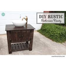 white diy rustic bathroom vanity diy projects Diy Rustic Bathroom Vanity