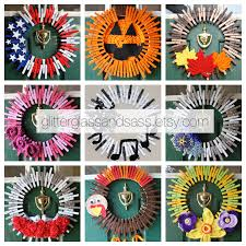christmasinjuly glitterglassandsass wreath thanksgiving