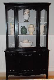 Dining Room Corner Cabinets My Old Bathroom China Cabinet Painted Black With Taupe Insides