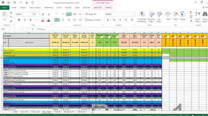Project Spreadsheet Template Excel Monitor And Excel Sheet