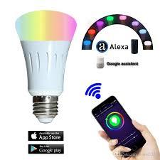 alexa controlled light bulbs wifi bulbs smart bulb wifi led light bulbs 7w rgb voice controlled