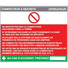 compacteur cuisine fiche sécurité compacteur à déchets h 200 x l 240 mm pvc 2 mm