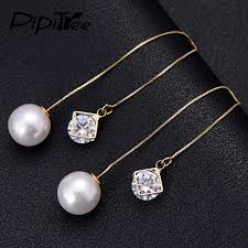 original diamond drop diamond earrings women with fantastic minimalist in spain