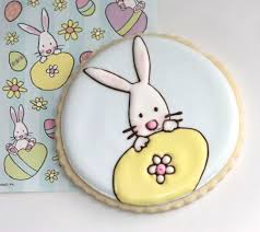 Decorated Easter Bunny Cookies decorated easter cookies sweetopia
