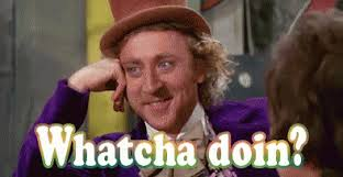 Whatcha Doin Meme - whatcha doin gif willywonkaandthechocolatefactory willwonka