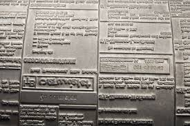 letterpress printing museum fribourg cylindrical printing plate made of lead for