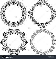 set ornamental frames stock vector 260142620