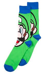 Wu Tang Socks Men U0027s Super Mario Brothers Luigi Socks