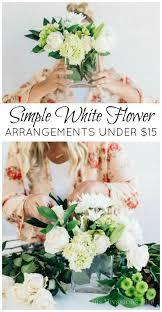 white flower arrangements simple white flower arrangements 15 budget