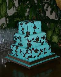 best turquoise and brown wedding ideas wedding cake