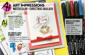 art impressions blog new video christmas mailbox watercolor