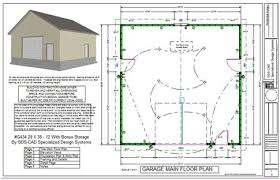 Floor Plan With Electrical Layout Garage Plan Sds Plans