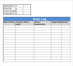 Log Excel Template Sle Daily Log Template 15 Free Documents In Pdf Word