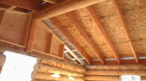 Roof Framing Pictures by How To Frame A Roof On A Log Cabin Youtube
