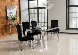 Black Velvet Dining Room Chairs by New Stunning Lacene Black Glass 200cm Dining Table Black Velvet