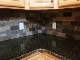 Slate Backsplash Kitchen Uba Tuba Granite With Slate Backsplash For The Home Pinterest