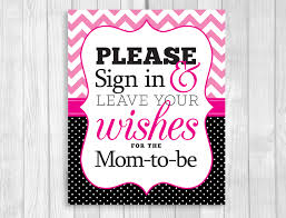 baby shower sign in weddings by susan printable baby shower signs hot pink chevron