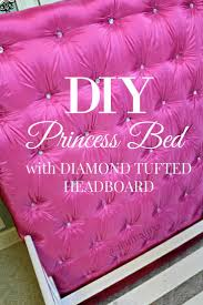 best 25 princess beds ideas on pinterest castle bed princess diy tufted diamond headboard perfect princess bed for my toddler