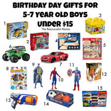 birthday gifts for 5 7 year old boys under 15 the resourceful mama