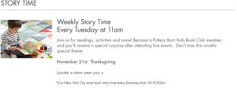 Pottery Barn Kids Store Location Store Events Pottery Barn Kids
