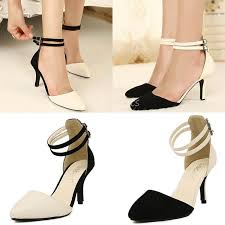 Closed Toe Sandals With Heel Inch Closed Toe Pointy Black And White Pumps Beige Heels With