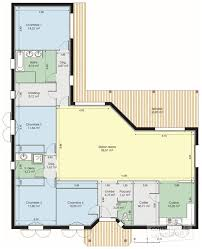plan maison plain pied en l 4 chambres plan de maison contemporaine brillant plan maison contemporaine