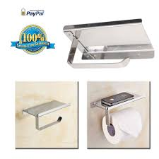 Toilet Paper Holder With Shelf Bosszi Wall Mount Toilet Paper Holder Sus304 Stainless Steel