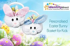 easter baskets delivered best scoopon delivered personalised easter bunny basket for kids