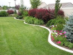 Concrete Ideas For Backyard Landscaping In A Curved Bed Along A Privacy Wall May Be A