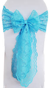 turquoise chair sashes lace chair sashes wedding lace chair sash bow ties