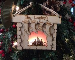 fireplace ornament etsy